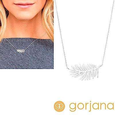 GORJANA 美國品牌 立體剪影 加州棕櫚樹項鍊 銀色 Palm Adjustable