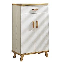 文創集 西提爾現代2尺雙色二門鞋櫃/玄關櫃-60x33x95cm免組