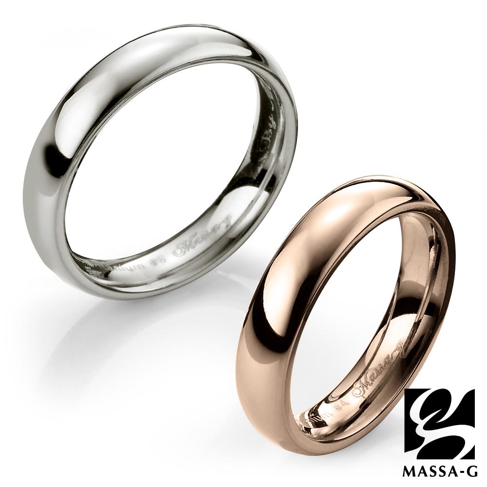 MASSA-G DECO系列鈦金純愛 玫瑰金+銀 鈦金對戒
