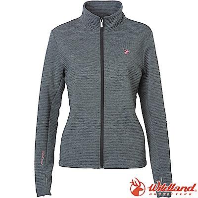 Wildland 荒野 0A62607-90灰色 女彈性針織時尚保暖外套
