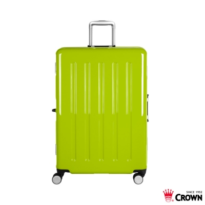 CROWN 皇冠 27吋 大容量鋁框拉桿箱 高光綠