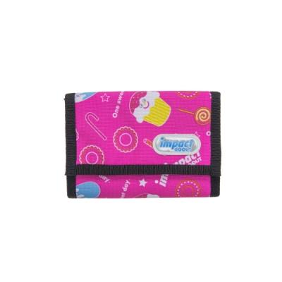 【IMPACT】運動皮夾系列-運動短夾-冰淇淋天堂-粉紅 IM00T01PK