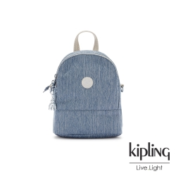 Kipling 淺色丹寧藍隨身兩用斜