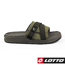 LOTTO 義大利 男 MILANO 潮流拖鞋 (綠)