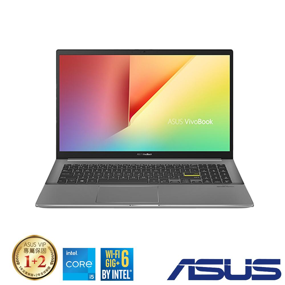 ASUS S513EQ 15吋筆電 (i5-1135G7/MX350/8G/512G/VivoBook S15/酷玩黑)