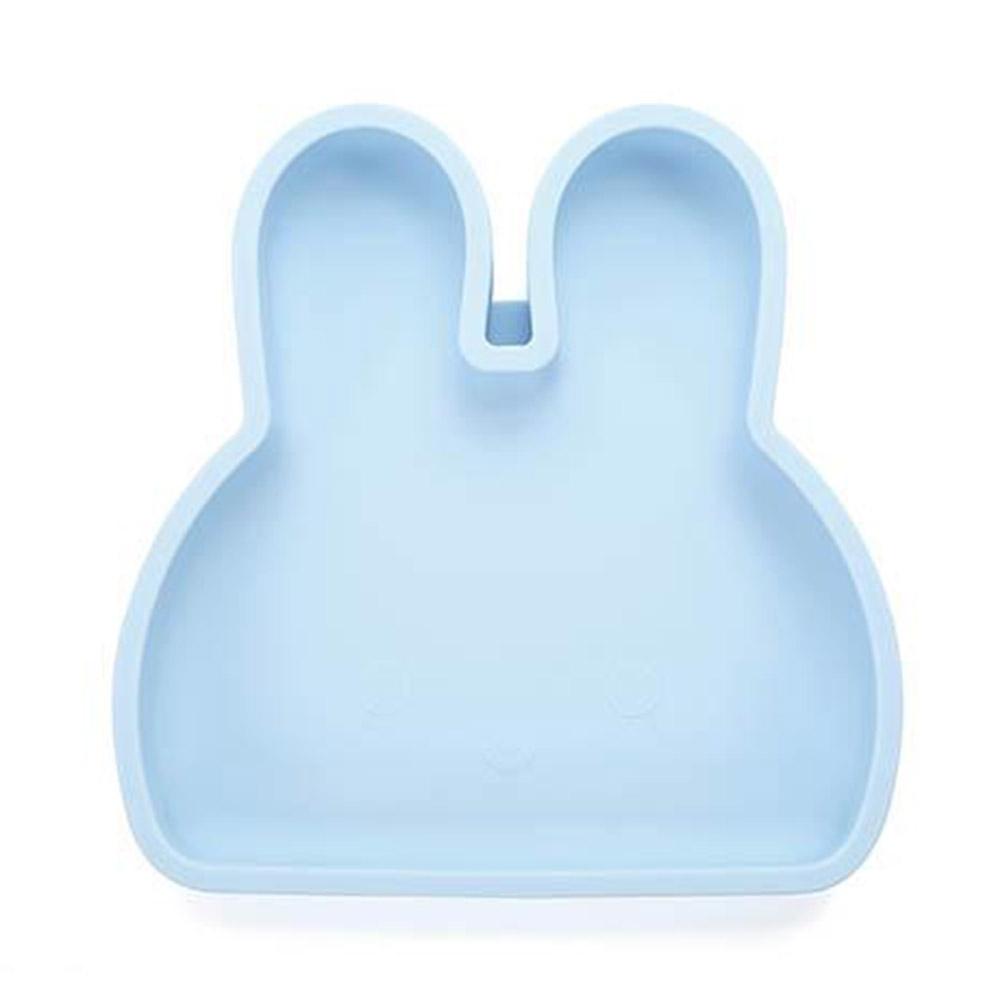 新加坡bopomofo 兔兔矽膠餐盤-藍色夏威夷