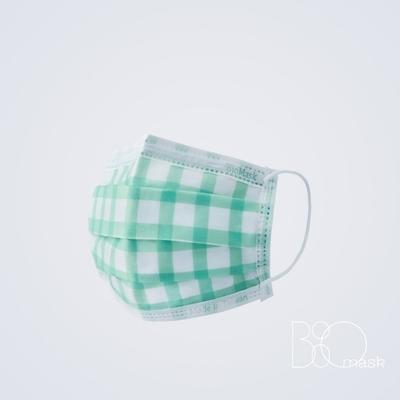 BioMask保盾 醫療口罩(未滅菌)-Bisou Bisou聯名(法式田園格紋)-成人用(10片/盒)