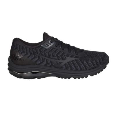 MIZUNO WAVE RIDER 24 WAVEKNIT 男慢跑鞋-美津濃 J1GC207509 黑淺藍