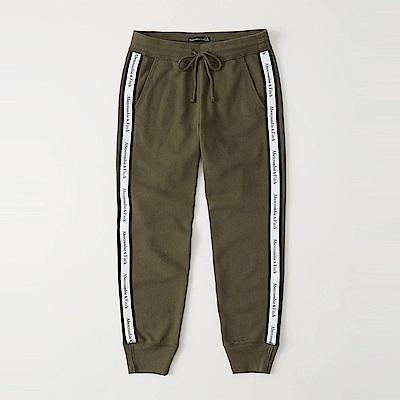 麋鹿 AF A&F 經典標誌設計長棉褲(女)-墨綠色