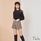 格紋側下擺小開岔短褲 TATA-(S/M)