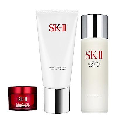 SK-II 全效活膚潔面乳(120g)+青春露(75ml) 贈活膚霜(15g)