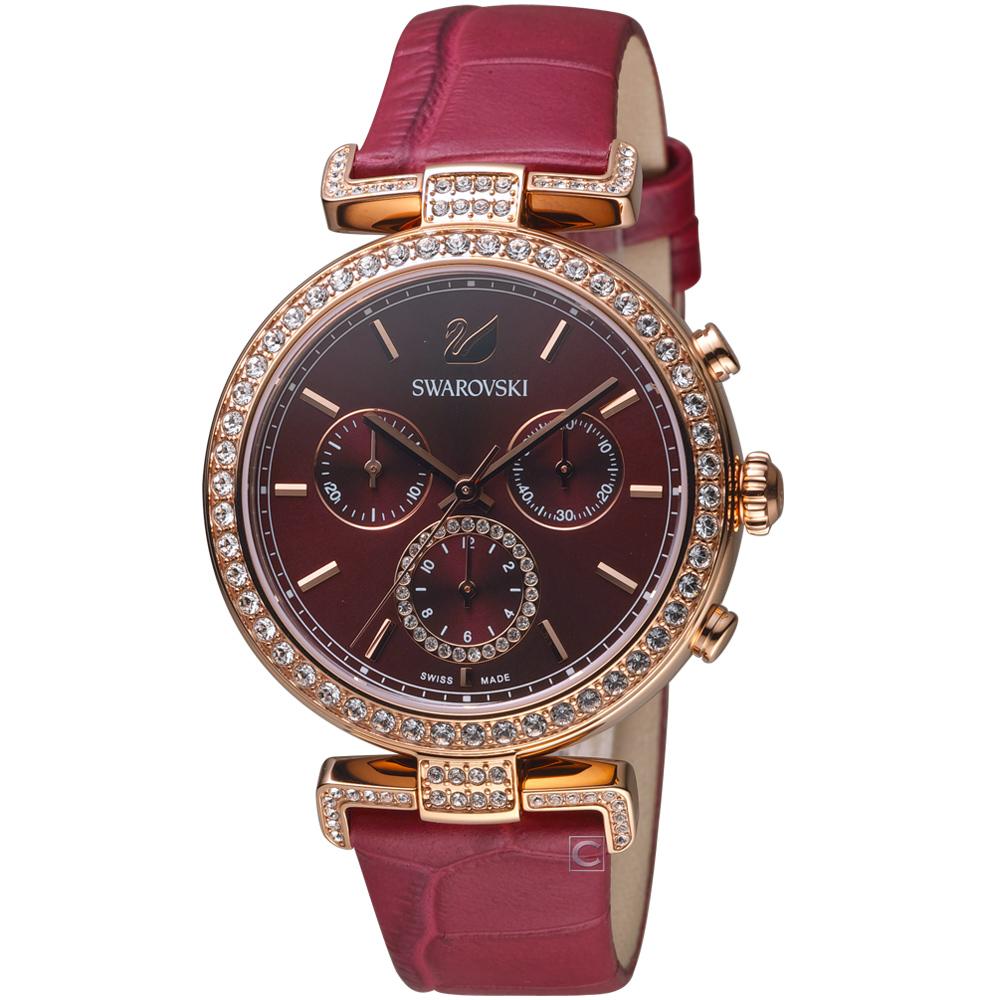 SWAROVSKI施華洛世奇ERA JOURNEY典雅腕錶(5416701)-紅