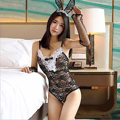 維密天使嚴選 性感誘惑俏皮兔女郎情趣內衣/角色扮演情趣內衣F008