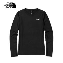 The North Face北面女款黑色吸濕排汗發熱衣|3SG9JK3
