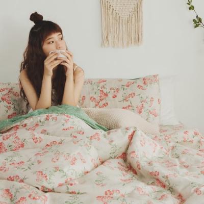 絲薇諾 MIT精梳純棉  安娜西  雙人5尺-床包鋪棉被套四件組