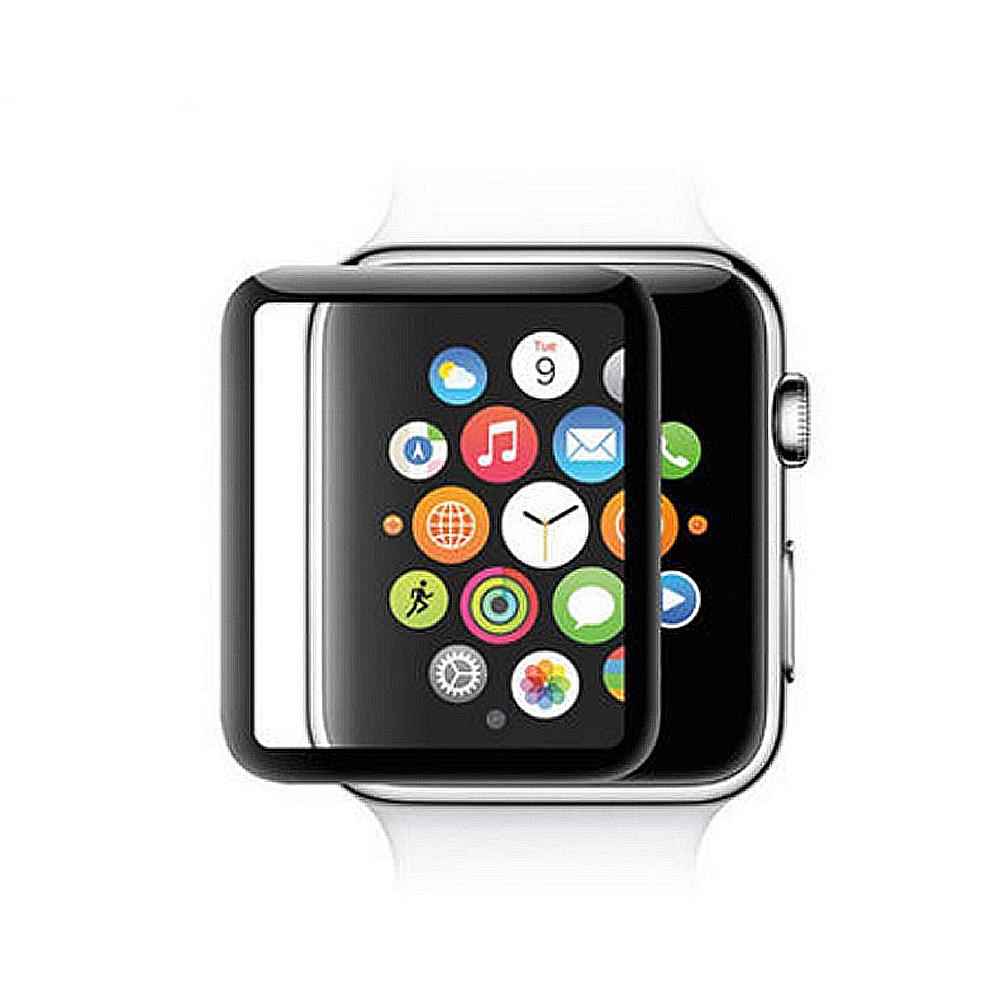 蘋果手錶 Apple Watch4 曲面3D鋼化玻璃保護膜保護貼40mm-黑