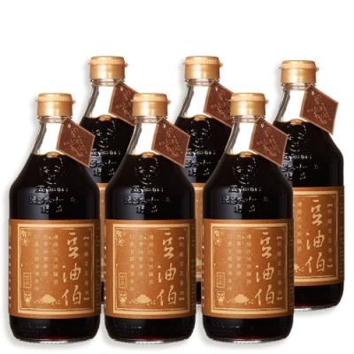 豆油伯 熱銷金豆純釀醬油6入超值組(500mlx6瓶)
