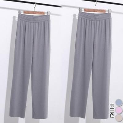 【韓國K.W.】(預購)美搭款粉彩甜心馬卡龍色寬褲-3色