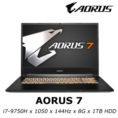 AORUS 7 電競筆電 i7-9750H / GTX1050