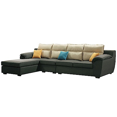 文創集 里比亞亞麻布L型獨立筒沙發組合(二向可選)-337x178x76cm免組