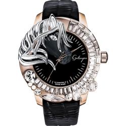 Galtiscopio 迦堤 LA GIOSTRA LL 童真木馬二代手錶-玫塊金x黑錶帶