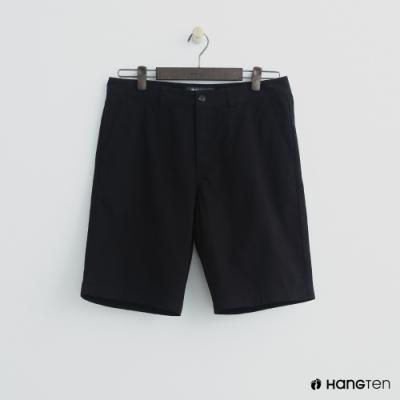 Hang Ten - 男裝 - 素色純面棉質短褲-黑