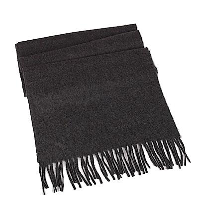 BURBERRY 經典百分百喀什米爾羊毛圍巾(煤灰色)