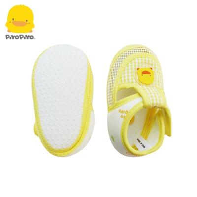 【任選】黃色小鴨《PiyoPiyo》網狀嬰兒學步涼鞋-黃