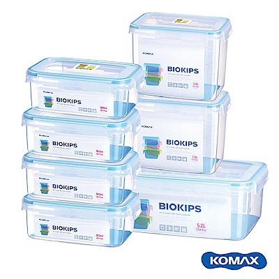 韓國KOMAX BIOKIPS PP保鮮盒7件組(900ml、3600ml、5200ml)