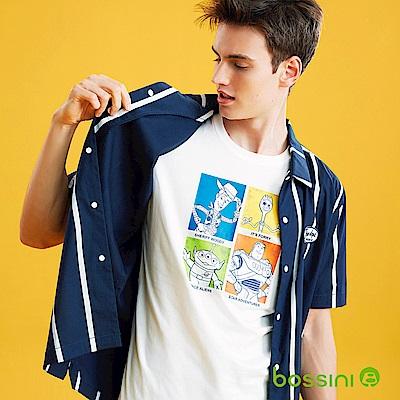 bossini男裝-玩具總動員印花T恤01灰白