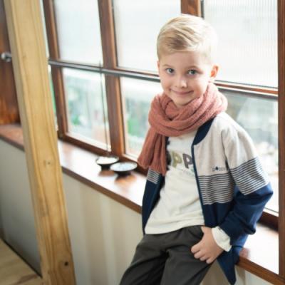 PIPPY 雙面穿細條紋 男童夾克  藍色