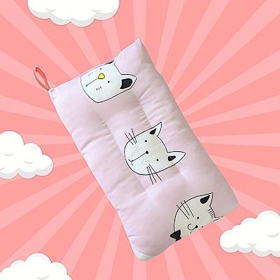 A-ONE 100%天絲 可水洗兒童枕/午睡枕/靠枕 一枕三用-童趣小貓