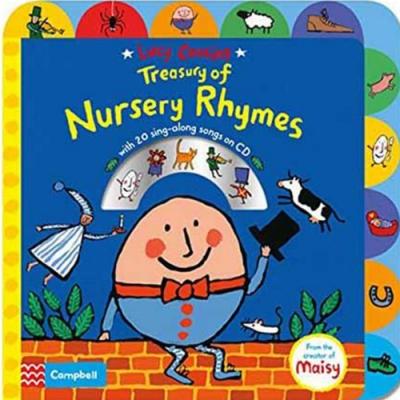 Treasury Of Nursery Rhymes 趣味童謠歌唱本硬頁有聲CD書