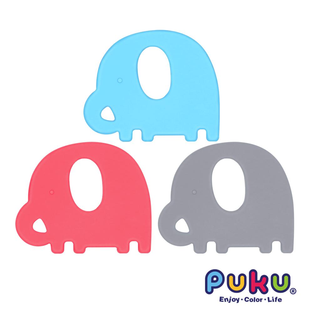 【PUKU】Baby GaGa小象固齒器(含鍊夾/收納盒)