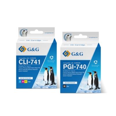 【G&G】for CANON 2黑1彩 PG-740XL+CL-741XL 高容量相容墨水匣超值組 / 適用PIXMA MG2170/ MG3170/ MG4170/ MG2270/...