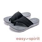 Easy Spirit seLOLA2 行走舒適 拼接布面夾腳拖鞋-黑色