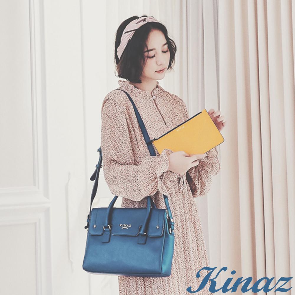 KINAZ 愛戀陽光兩用斜背包-淚光藍-向日葵系列