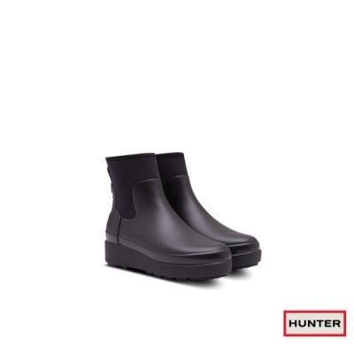 HUNTER -女鞋-Refined Creeper切爾西踝靴-黑色