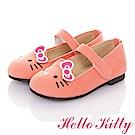 (雙11)HelloKitty 高級手工超纖皮輕量樂福娃娃童鞋-粉