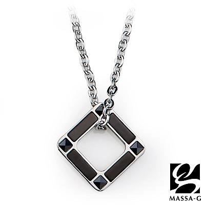 MASSA-G【迴圈】金屬鍺錠白鋼項鍊
