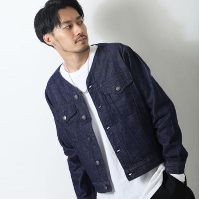 丹寧外套短版素色單寧(1色) ZIP日本男裝