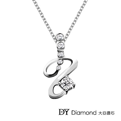 DY Diamond 大亞鑽石 18K金 0.30克拉 D/VS1 設計時尚鑽墜