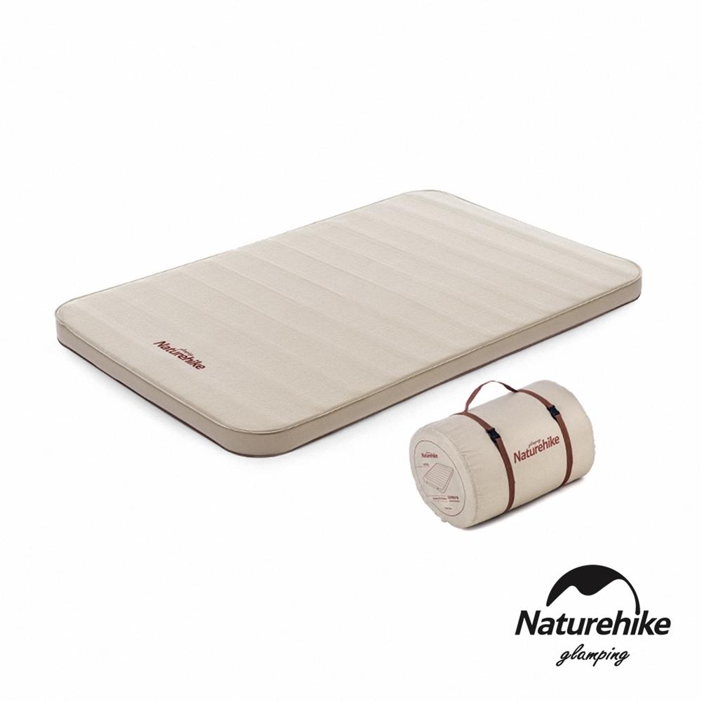Naturehike C10舒適靜音 雙人加厚自動充氣睡墊 防潮墊 奶酪色