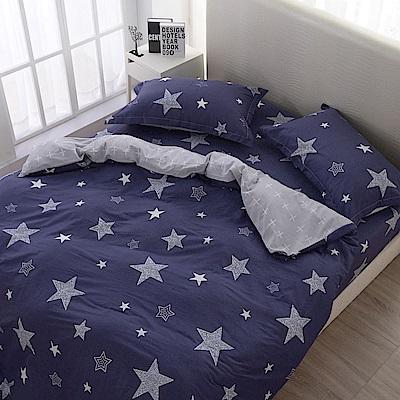 夢工場   異星引力精梳棉床包兩用被組-雙人