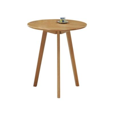 柏蒂家居-安迪2.7尺實木休閒桌/圓桌-63x47x73cm