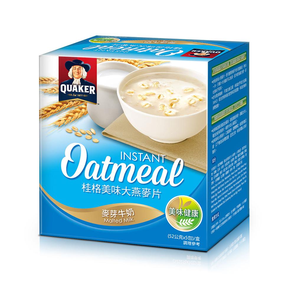 桂格 美味大燕麥片-麥芽牛奶(52gx5包)