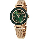 Anne Klein 奢華復古風翡翠綠氣質腕錶-翡翠綠x30mm