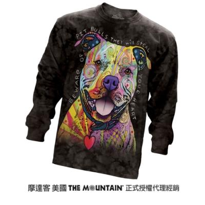 摩達客 美國進口The Mountain 彩繪比特犬 純棉長袖T恤