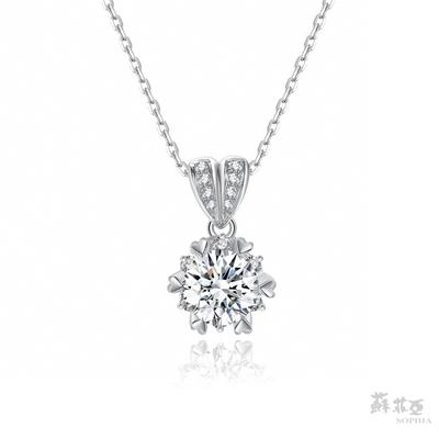SOPHIA 蘇菲亞珠寶 - 心心相印 1.00克拉 18K白金 鑽石項鍊