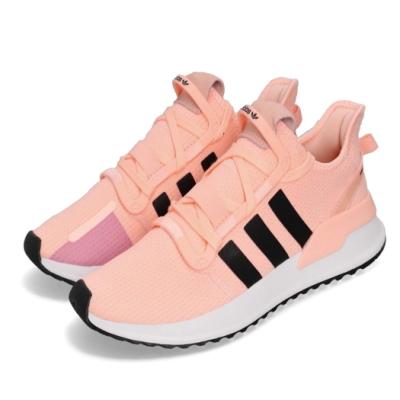 adidas 慢跑鞋 U Path Run 襪套式 女鞋 愛迪達 運動休閒 基本款 穿搭 粉橘 白 G27996